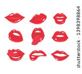 sexy smile woman lips with... | Shutterstock .eps vector #1398398864