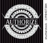 authorize silver shiny emblem . ... | Shutterstock .eps vector #1398407384