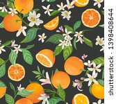 seamless orange pattern with... | Shutterstock .eps vector #1398408644
