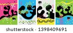 set of creative card  cover and ...   Shutterstock .eps vector #1398409691