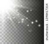 light flare special effect with ... | Shutterstock .eps vector #1398417314