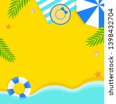 summer sale  summer beach... | Shutterstock .eps vector #1398432704