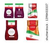 foil food snack sachet bag... | Shutterstock .eps vector #1398433337
