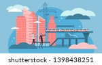 civil engineering vector... | Shutterstock .eps vector #1398438251