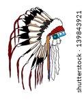 indian hat | Shutterstock .eps vector #139843921