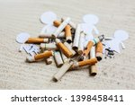paper cut of family destroyed... | Shutterstock . vector #1398458411