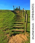 Wooden Steps Made In Nature To...
