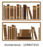 books on shelf   | Shutterstock . vector #139847314