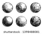 hand drawn shaded spheres.... | Shutterstock .eps vector #1398488081