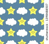 funny seamless pattern with... | Shutterstock .eps vector #1398488507