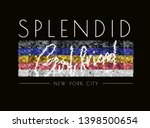 splendid girlfriend slogan on... | Shutterstock .eps vector #1398500654