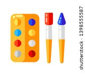 icon of paints palette with...   Shutterstock .eps vector #1398555587