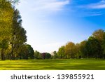 green field and trees. | Shutterstock . vector #139855921