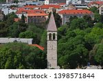 roofs in split city on the... | Shutterstock . vector #1398571844