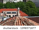 roofs in split city on the... | Shutterstock . vector #1398571877