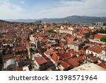 roofs in split city on the... | Shutterstock . vector #1398571964
