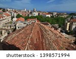 roofs in split city on the... | Shutterstock . vector #1398571994