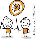 people got an idea. doodle... | Shutterstock .eps vector #1398572651