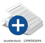 stack or pile of documents with ... | Shutterstock .eps vector #1398583694