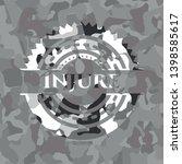 injure on grey camo texture   Shutterstock .eps vector #1398585617