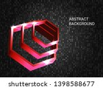 geometric polygons sparkle on... | Shutterstock .eps vector #1398588677
