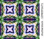 tibetan fabric. repeat tie dye... | Shutterstock . vector #1398591671