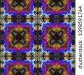 tibetan fabric. dark neon... | Shutterstock . vector #1398591764