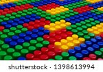 plastic building blocks... | Shutterstock . vector #1398613994