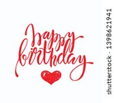 happy birthday lettering design.... | Shutterstock .eps vector #1398621941