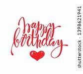 happy birthday lettering design.... | Shutterstock .eps vector #1398621941