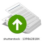 stack or pile of documents with ... | Shutterstock .eps vector #1398628184