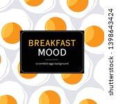 breakfast mood background.... | Shutterstock .eps vector #1398643424