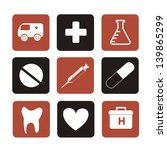 medical options over beige...   Shutterstock .eps vector #139865299