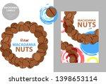 raw macadamia nuts label.... | Shutterstock .eps vector #1398653114