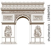arch of triumph isolated on the ...   Shutterstock .eps vector #139869541