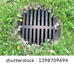 sewer grate cover manhole...   Shutterstock . vector #1398709694