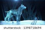 Ice Hound Dog Wolf. Magic Beas...
