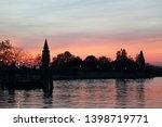 beautiful sunset on burano...   Shutterstock . vector #1398719771