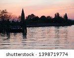 beautiful sunset on burano...   Shutterstock . vector #1398719774