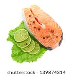 salmon and lime | Shutterstock . vector #139874314