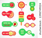 vector stickers  price tag ... | Shutterstock .eps vector #1398749024
