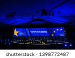 brussels  belgium. 15th may... | Shutterstock . vector #1398772487