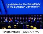 brussels  belgium. 15th may... | Shutterstock . vector #1398774797