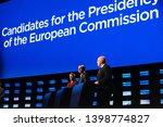 brussels  belgium. 15th may... | Shutterstock . vector #1398774827