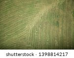 Aerial View Of Hay Bales. View...