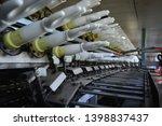 rubber gloves production line ...   Shutterstock . vector #1398837437