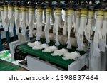 rubber gloves production line ...   Shutterstock . vector #1398837464
