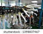 rubber gloves production line ...   Shutterstock . vector #1398837467