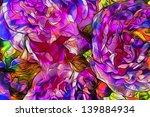 bright art floral paint... | Shutterstock . vector #139884934