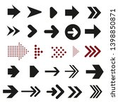 Collection of website arrows. Vector set.
